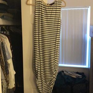 Alice and Olivia striped linen dress